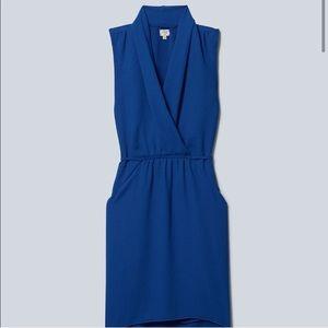Aritzia Wilfred Free Sabine Dress cobalt